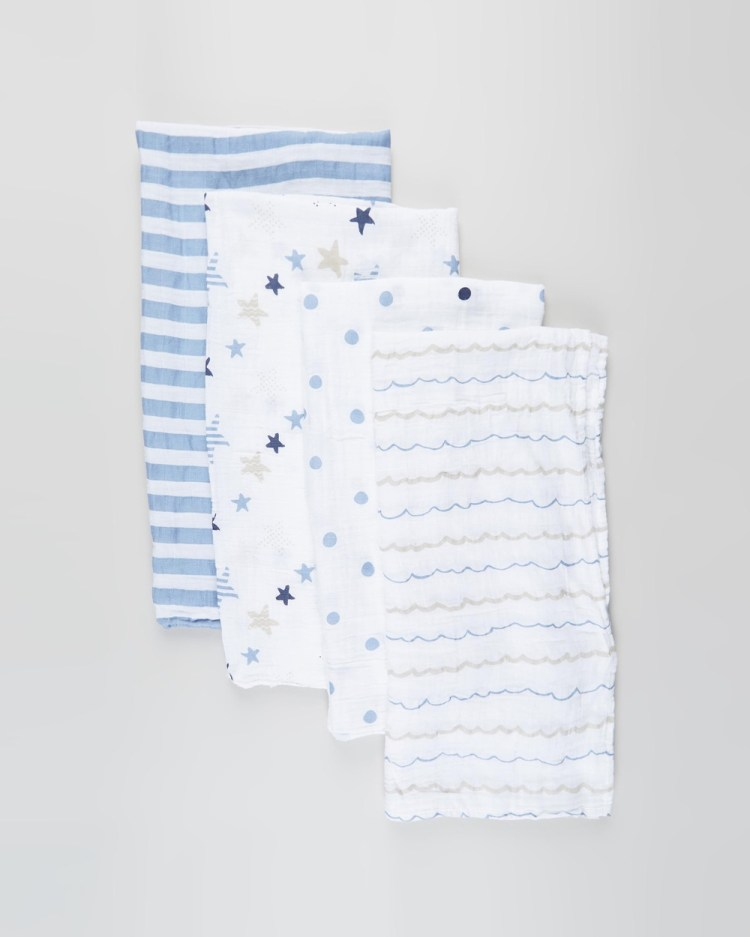 Aden & Anais Classic 4 Pack Swaddles Sleep Rock Star 4-Pack