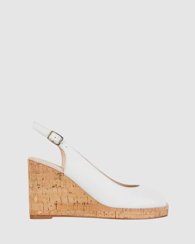 Jane Debster Davina Sandals WHITE