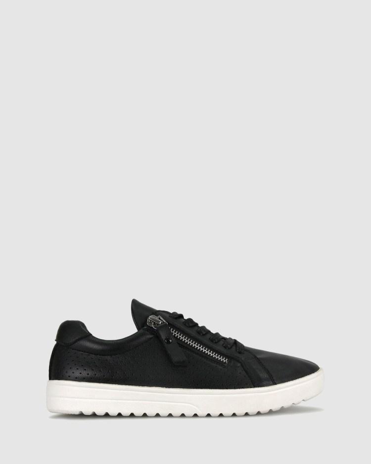 Zeroe Elsa Side Zip Sneakers Lifestyle Black