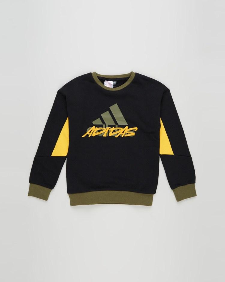 adidas Performance LB Fleece Crew Kids Necks Black