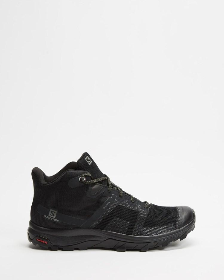 Salomon Outline Prism Mid GTX Outdoor Shoes Men's Hiking & Trail Black Castor Grey