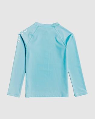Roxy Girls 2 7 Beach Classics Long Sleeve UPF 50 Rash Vest Swimwear FRESH WATER 2-7