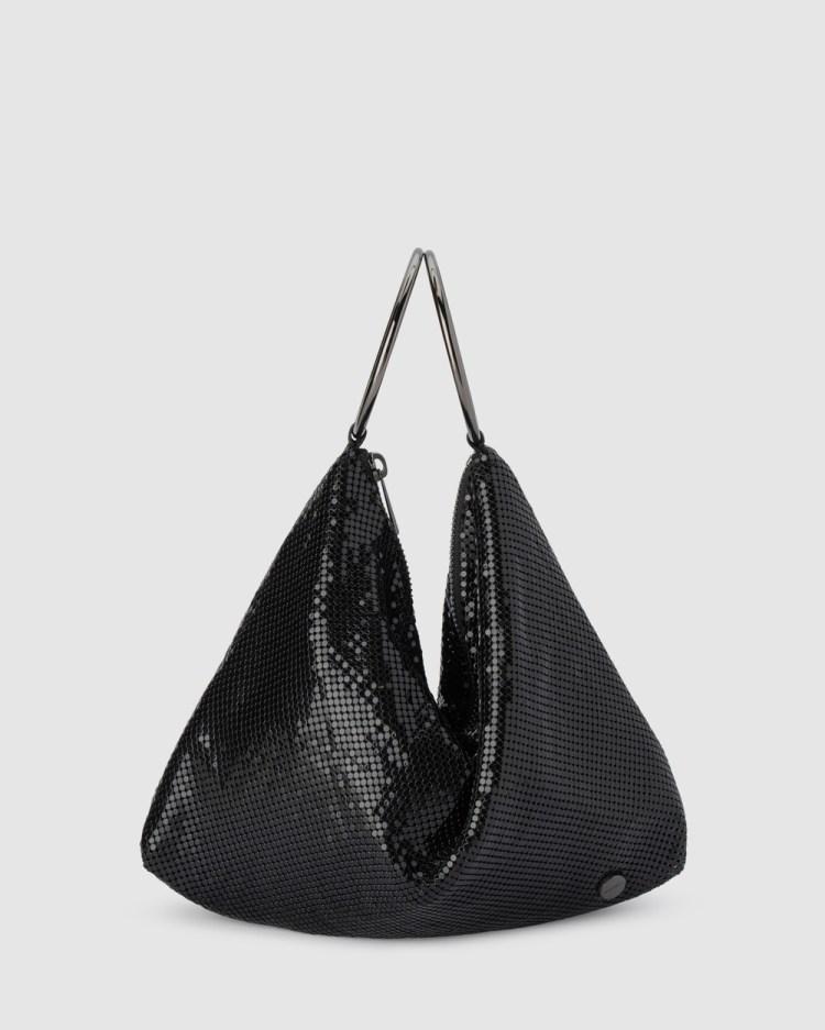 Olga Berg SHAR Mesh Convertible Bag Clutches Black