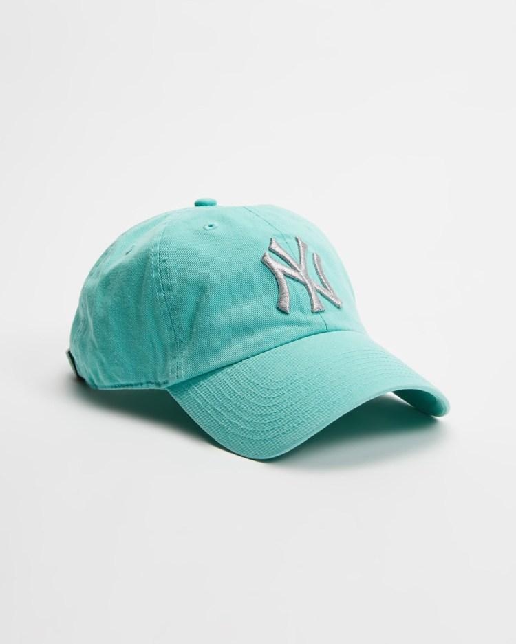 47 New York Yankees Metallic '47 Clean Up Headwear Tiffany Blue