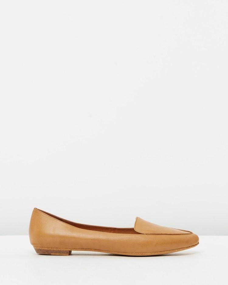 Mollini Gyro Leather Flats Ballet Tan