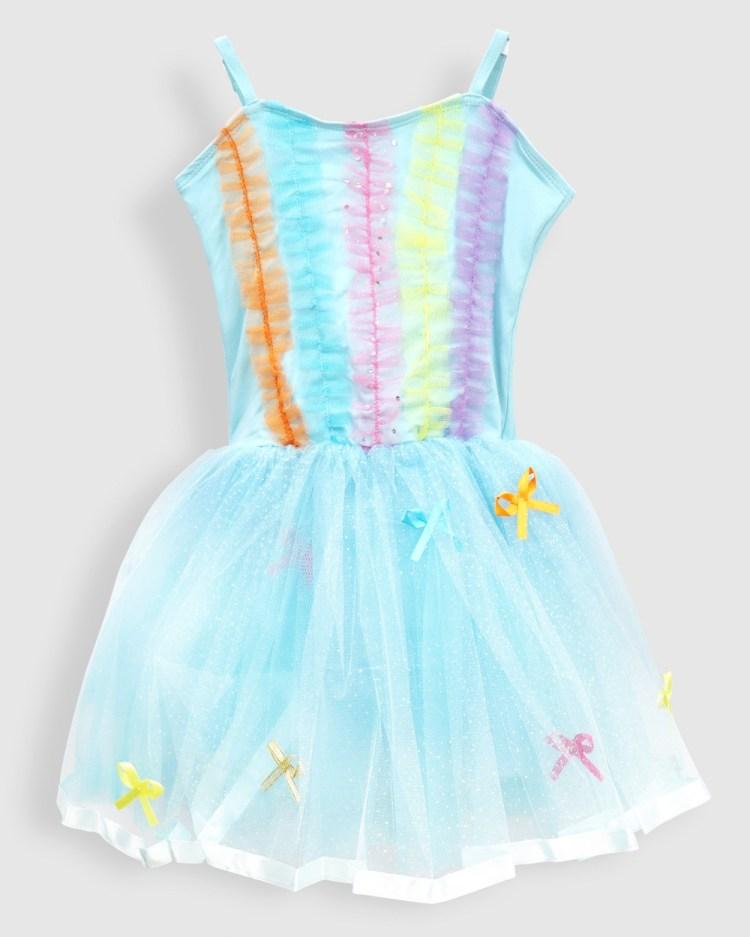 Pink Poppy Poppy's Rainbow Ruffles & Bows Princess Dress Dresses Blue