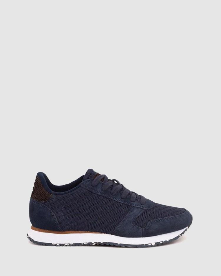 Woden Ydun Suede Mesh II Low Top Sneakers Navy
