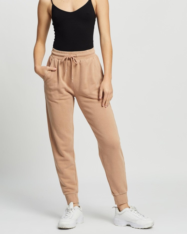 All About Eve Old School Trackpants Pants TAN