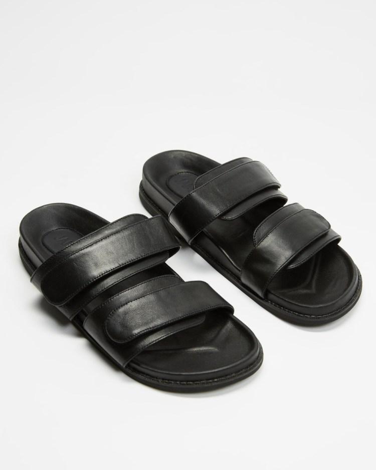 JAMES   SMITH Izano Slides Sandals Black