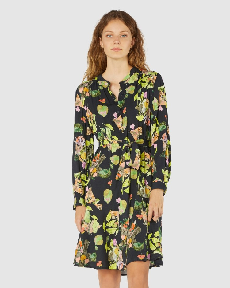 Gorman Blackbird Dress Printed Dresses Multi