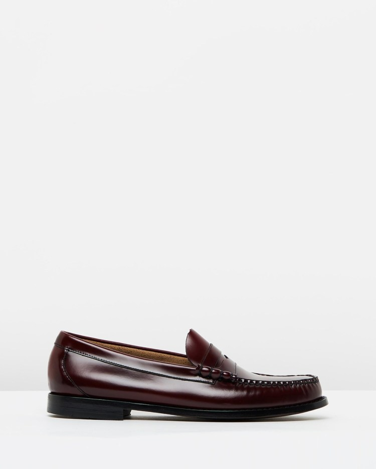 G. H. Bass & Co. Weejun Larson Moc Penny Loafers Dress Shoes Wine