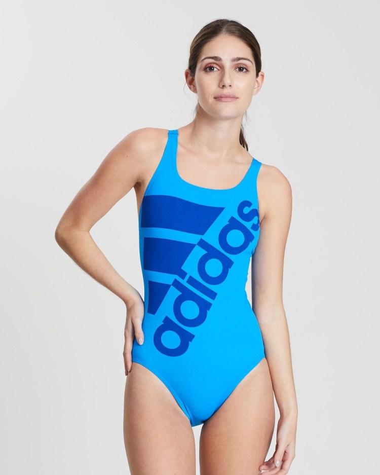 adidas Swim Graphic Performance One Piece One-Piece / Swimsuit Shock Blue & Blue