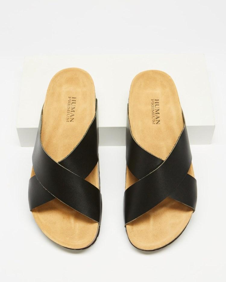 Human Premium Pandora Sandals Black