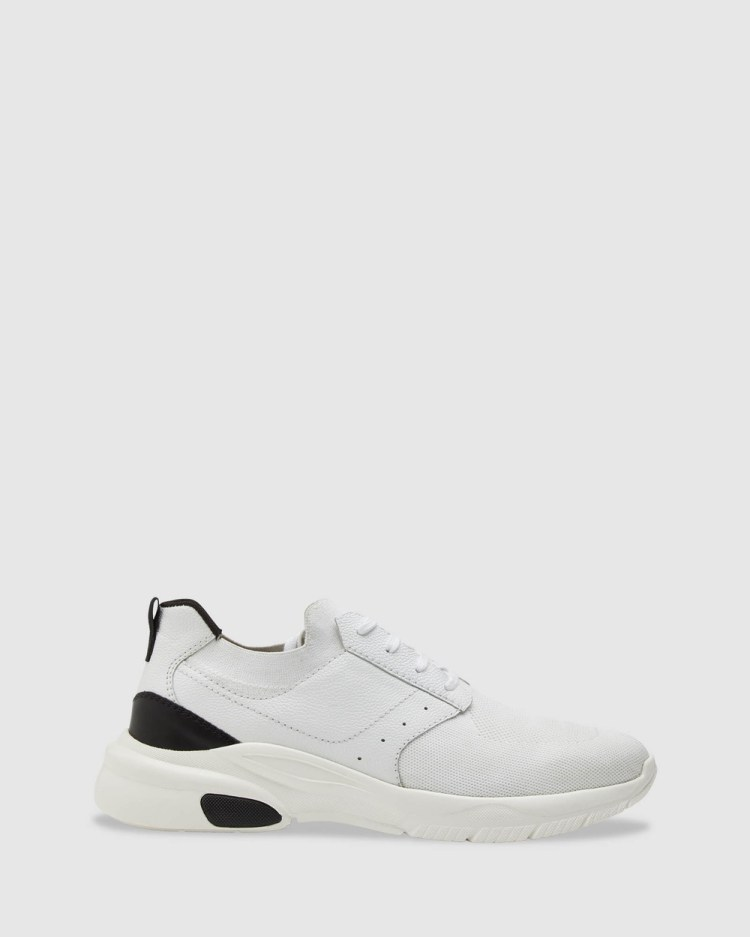 Oxford Haiden Knitted Mens Trainers Training White