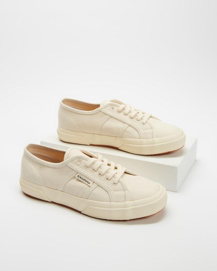 Superga 2750 Organic Cotton & Hemp Unisex Sneakers Natural Beige