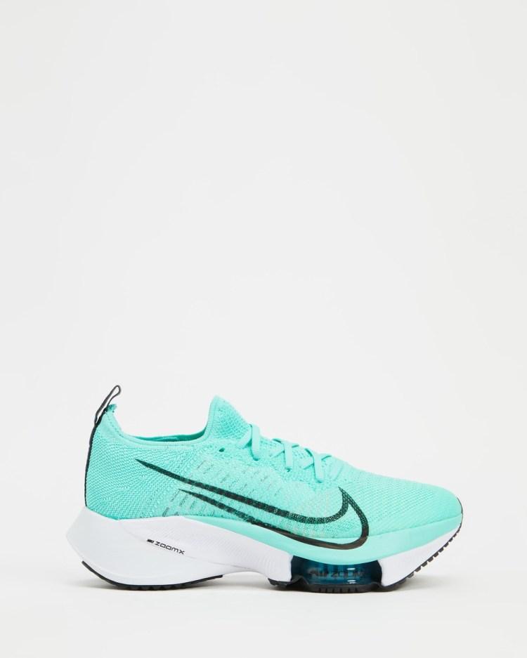 Nike Air Zoom Tempo NEXT% Womens Walking Turquoise & White