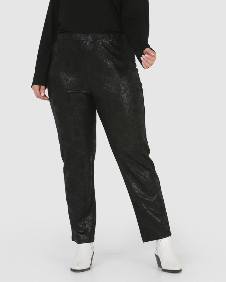 Advocado Plus Essential Slim Fit Pants Black Croc