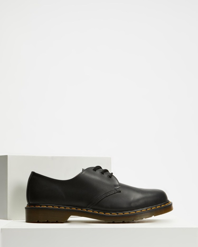 Dr Martens Unisex 1461 Nappa 3 Eye Shoes Casual Black Nappa 3-Eye