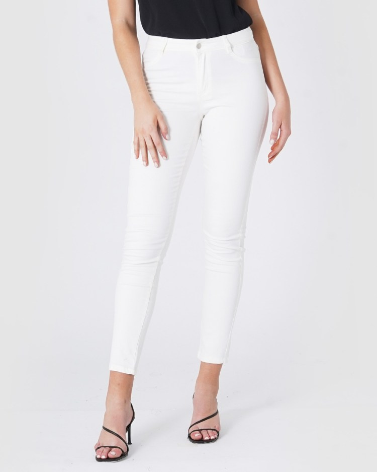 Amelius Skyscraper Jeans High-Waisted White