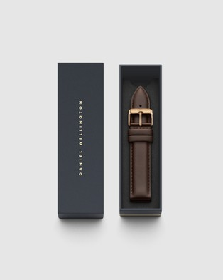 Daniel Wellington Leather Strap Bristol 20mm Watch Band For Classic 40mm Watches Rose gold