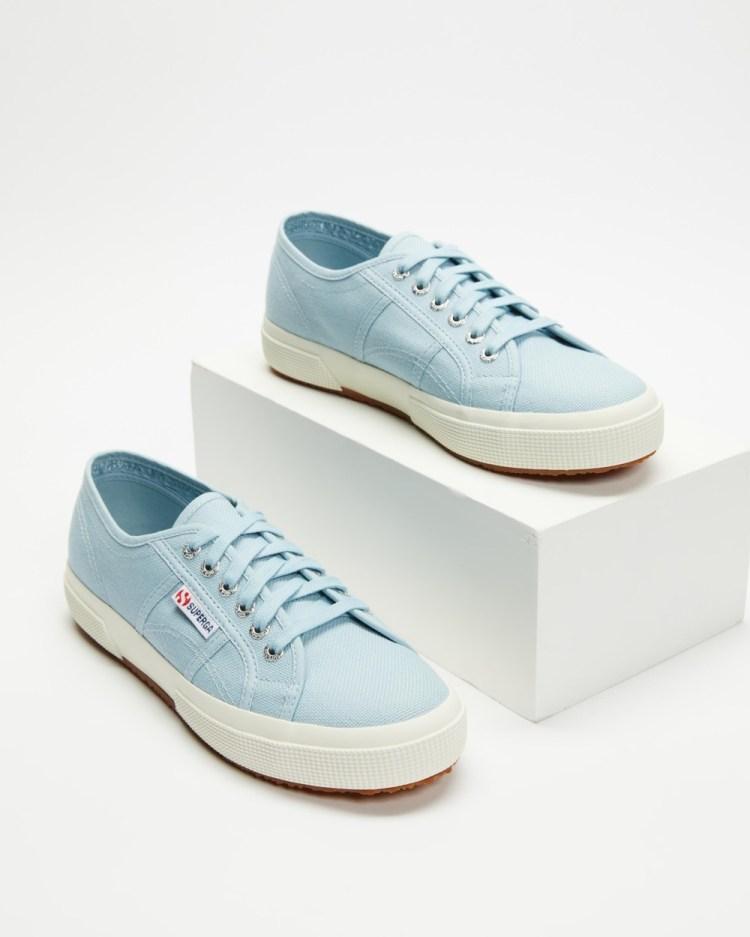 Superga 2750 Cotu Classic Womens Sneakers Blue Avorio