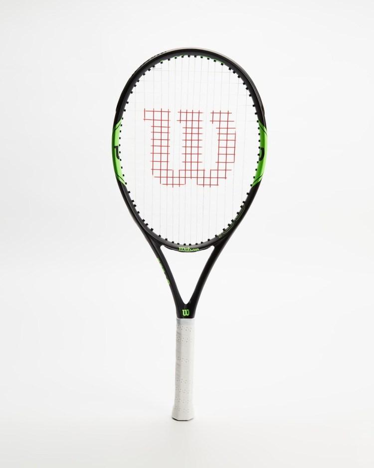 Wilson Milos Lite 105 Tennis Racket Training Equipment Green & Black