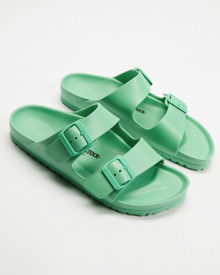 Birkenstock Arizona EVA Big Buckle Narrow Sandals Womens Bold Jade