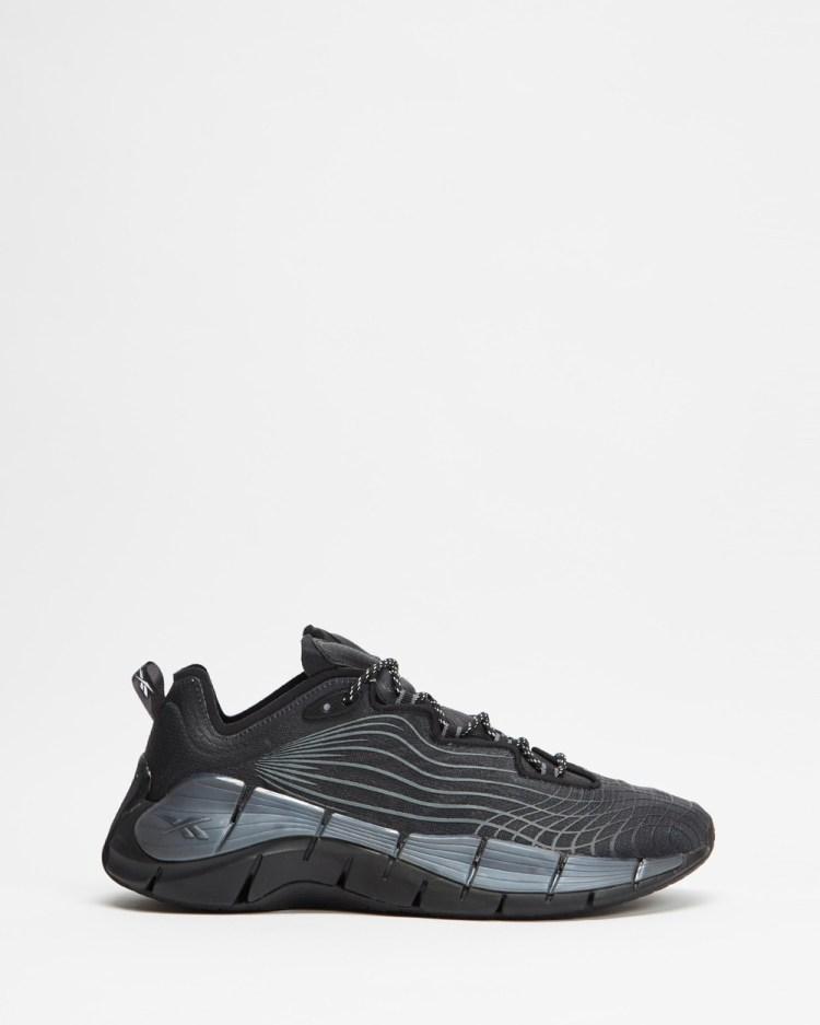 Reebok Zig Kinetica II Unisex Performance Shoes Core Black, Cold Grey 6 & Cloud White