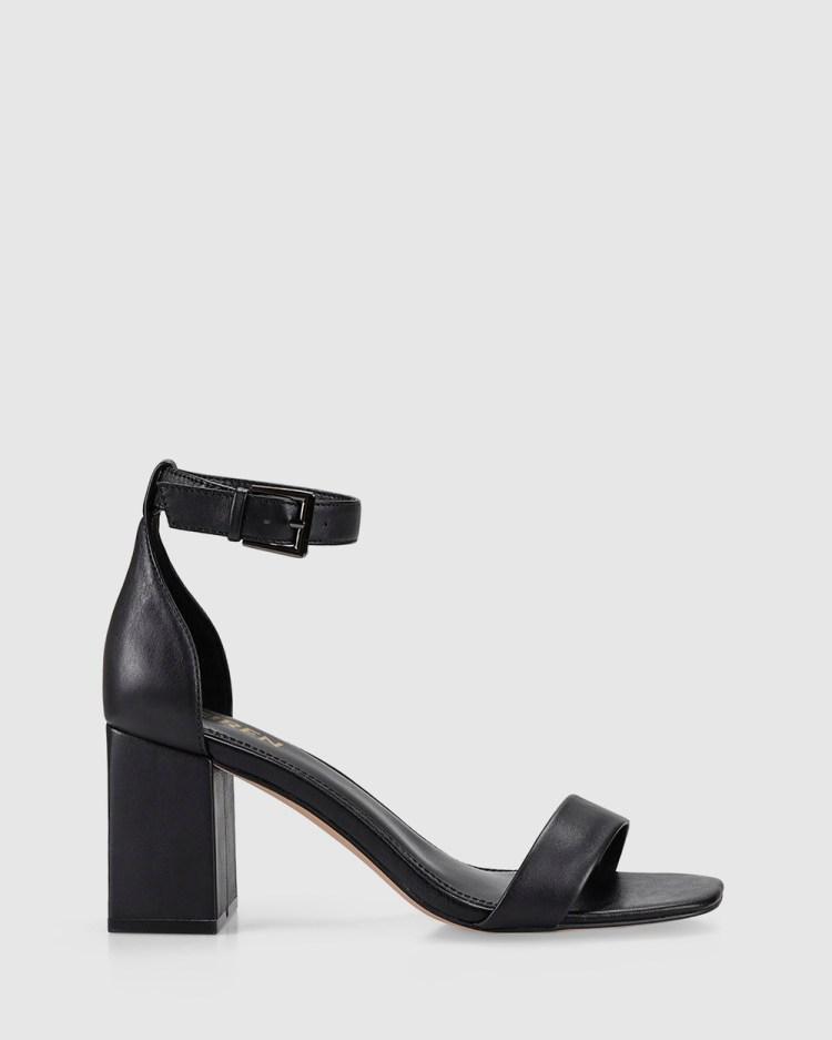 Siren Keeper Heels Black Leather