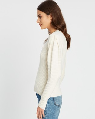 M.N.G - Ribbed Sweater - Jumpers & Cardigans (Light Beige) Ribbed Sweater