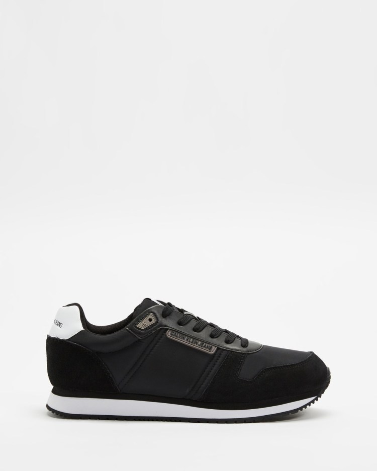 Calvin Klein Jeans Lace Up Runners Men's Sneakers Black Lace-Up