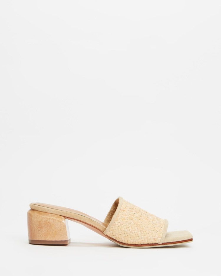 JAMES   SMITH The Sicily Slide Woven Mules Sandals Woven