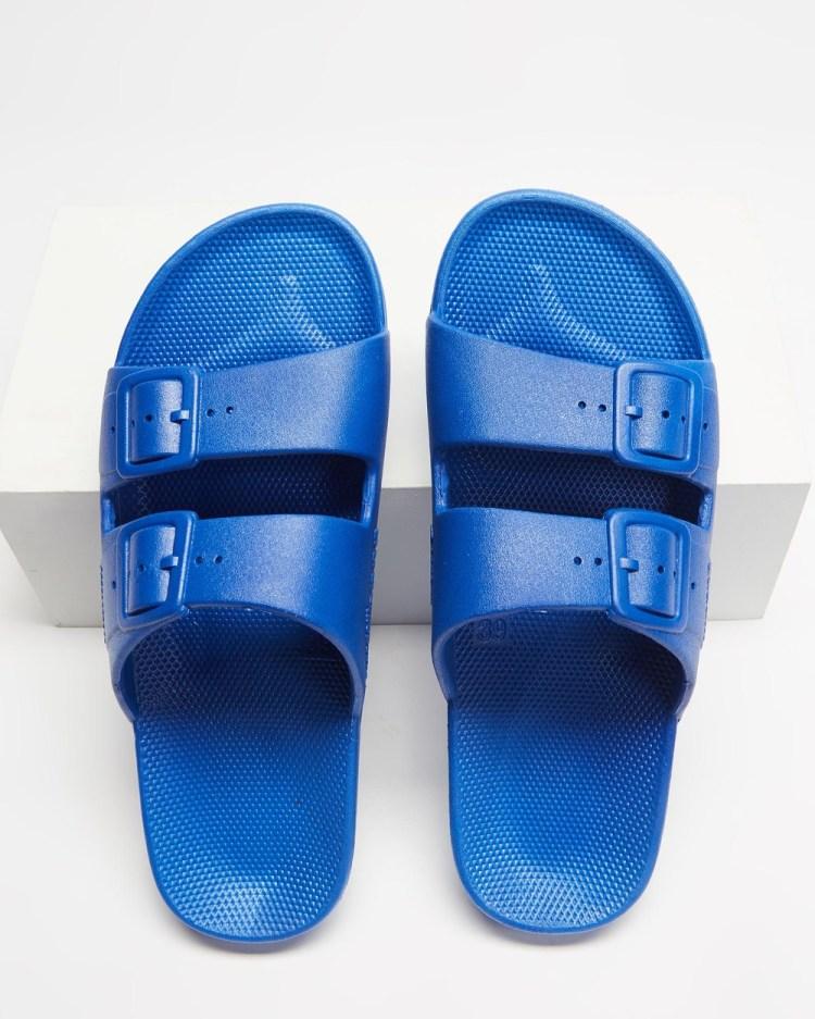 Freedom Moses Slides Unisex Casual Shoes Blue