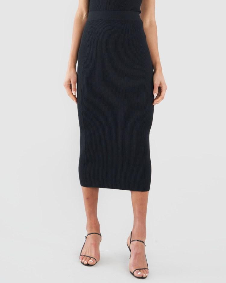 Amelius Afina Knit Skirt Skirts Black
