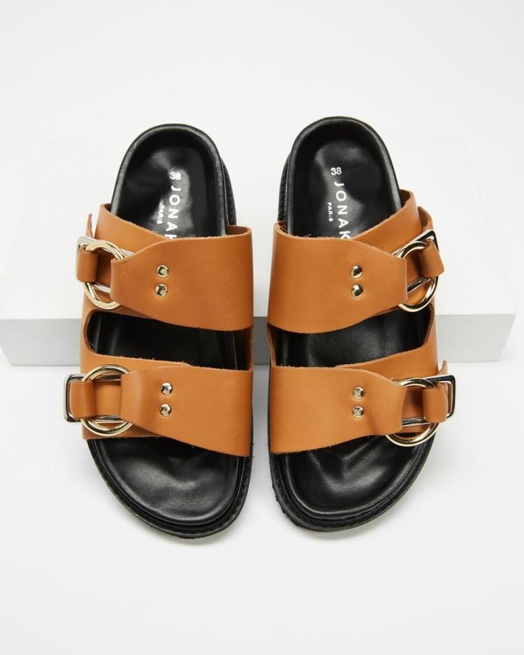 Jonak Fidji Sandals Camel