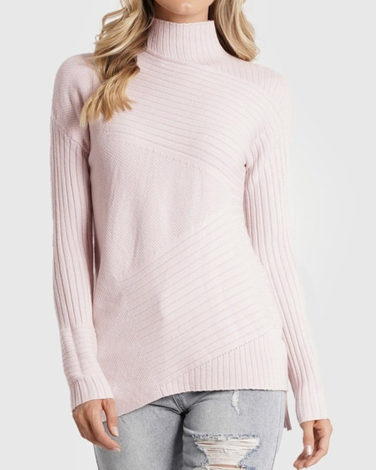 Amelius Beau Knit Jumpers & Cardigans Dusty Pink
