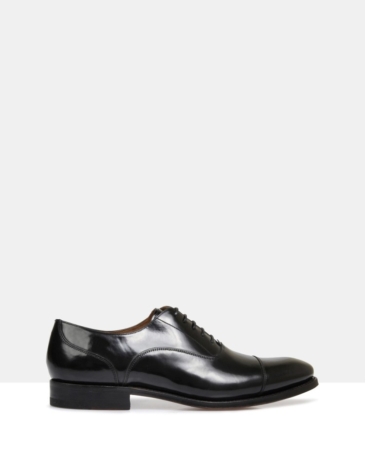 Brando Iver Good Year Welted Oxford Dress Shoes Black