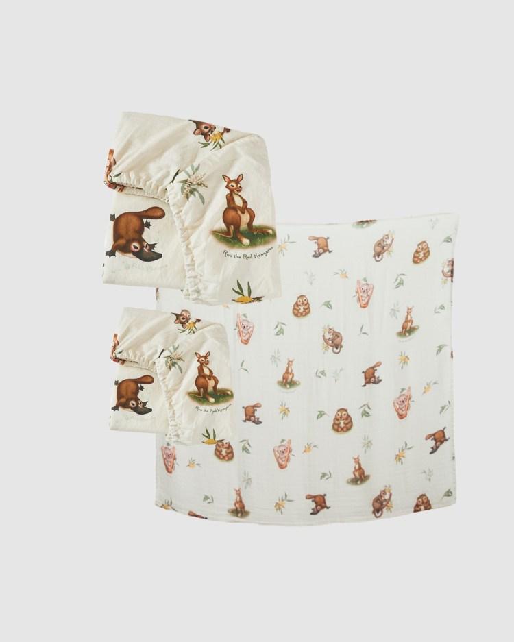 Banabae Marsupial Nursery Pack Blankets Multi