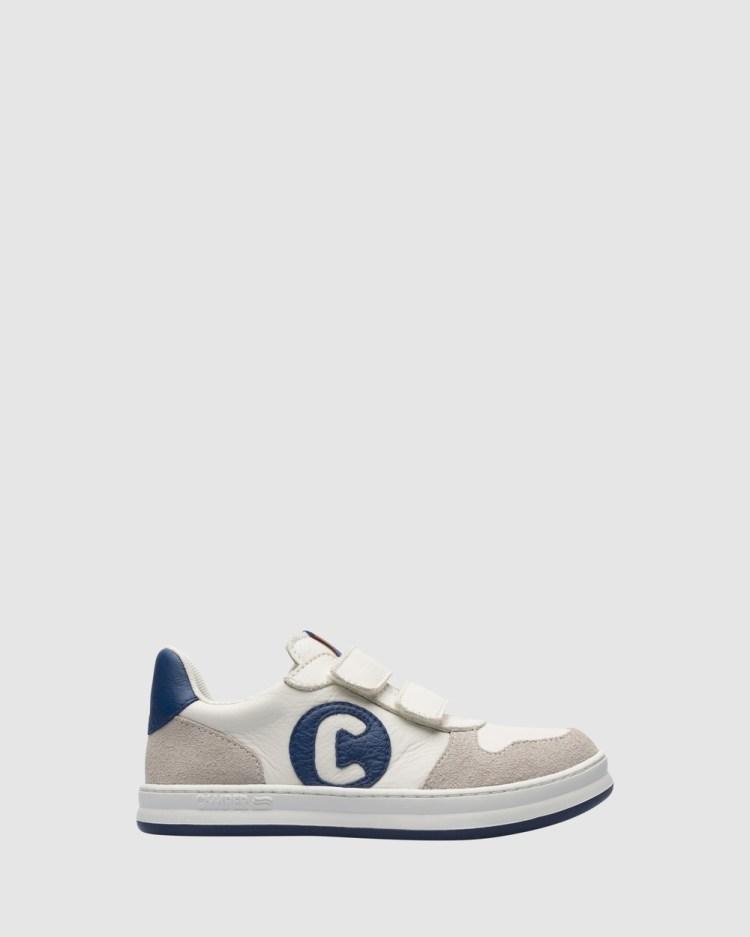 Camper Runner C Sneaker Self Fastening Youth Sneakers White/Navy Self-Fastening
