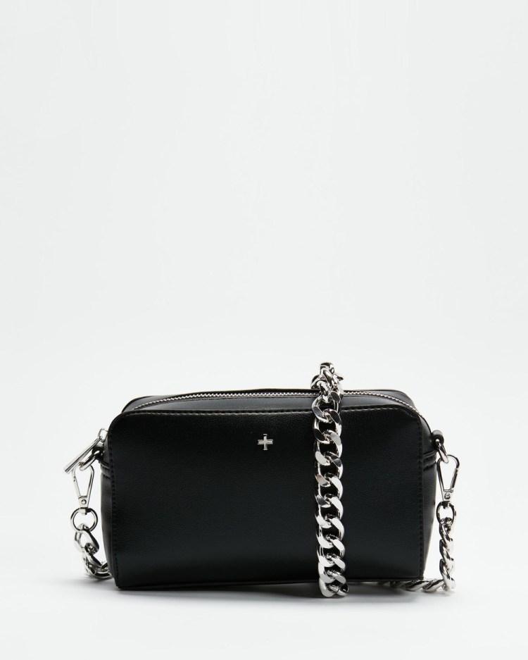 PETA AND JAIN Bond Shoulder Bag Handbags Black & Silver