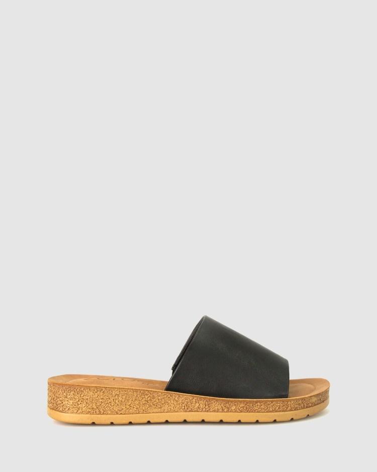Zeroe Rush Comfort Mule Sandals Black