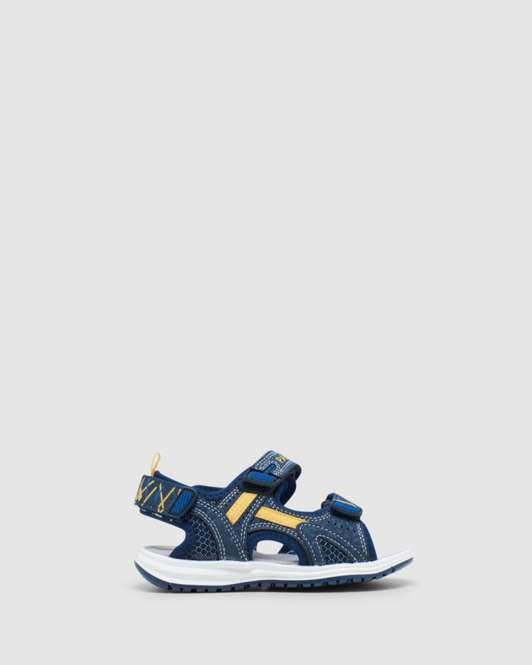 Pablosky Surf Sandal 965320 Youth Sandals Navy/Yellow