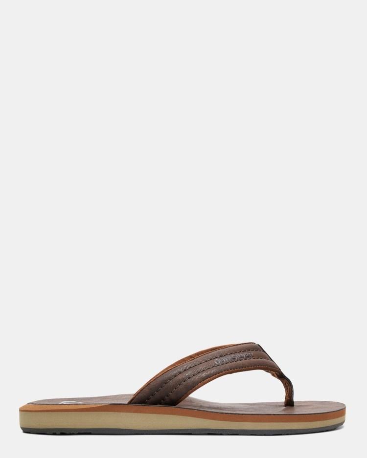 Quiksilver Mens Carver Nubuck Sandals Thongs DEMITASSE SOLID