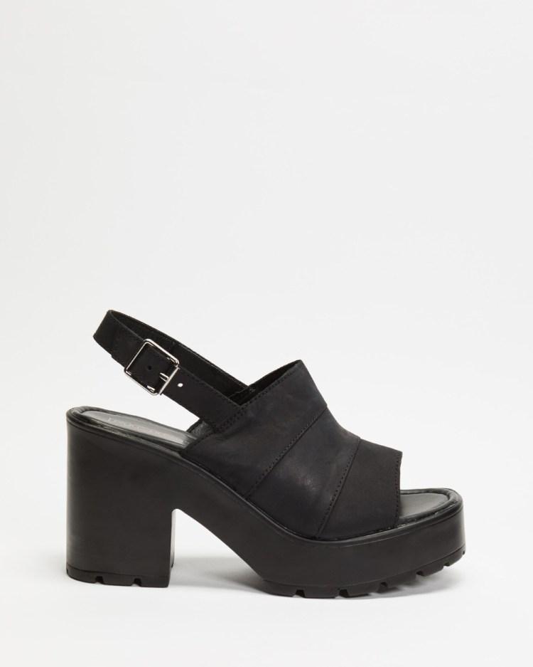 ROC Boots Australia Misty Sandals Black Leather