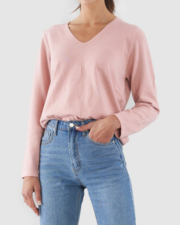 Amelius Marlene Knit Jumpers & Cardigans Pink