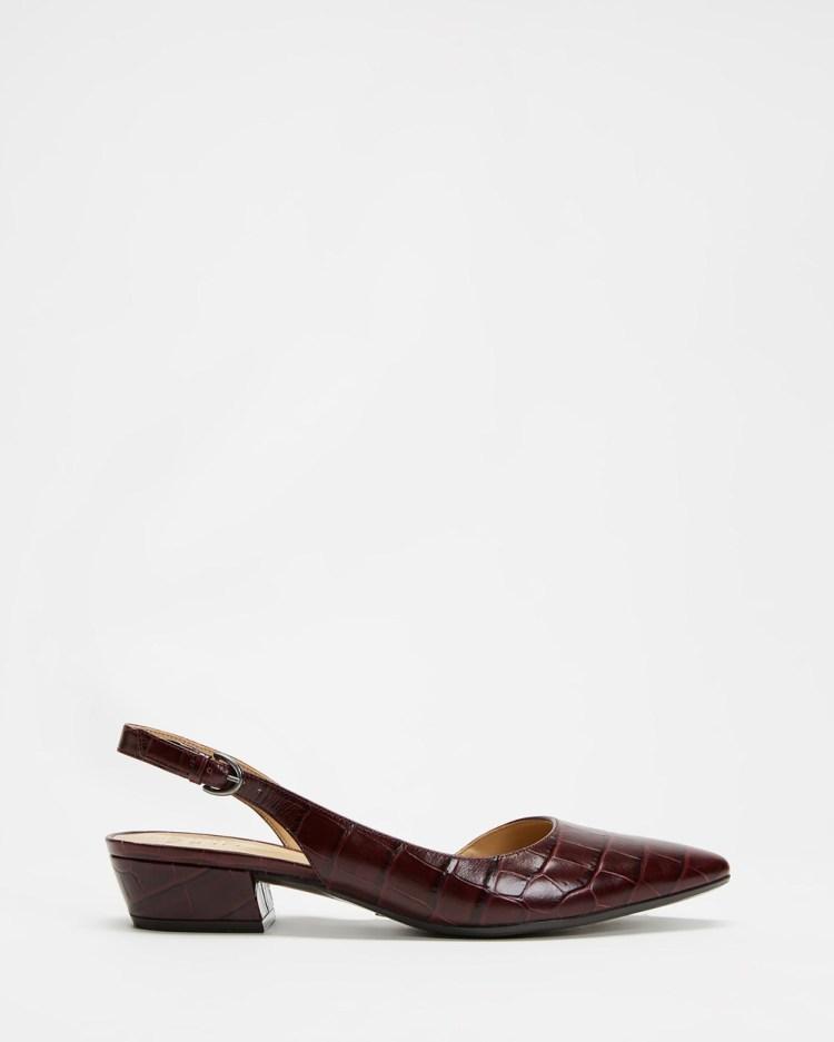Naturalizer Banks Slingback Mid-low heels Cab Sav Croc
