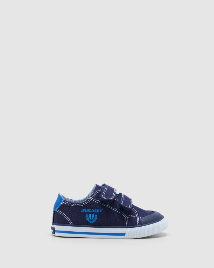 Pablosky Logo Canvas 9609 Infant Sneakers Navy/Blue
