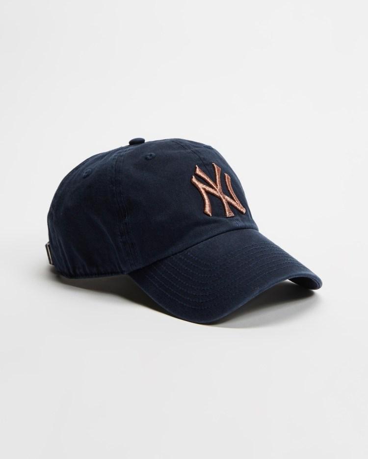 47 New York Yankees Metallic Replica Snapback Headwear Navy & Rose Gold