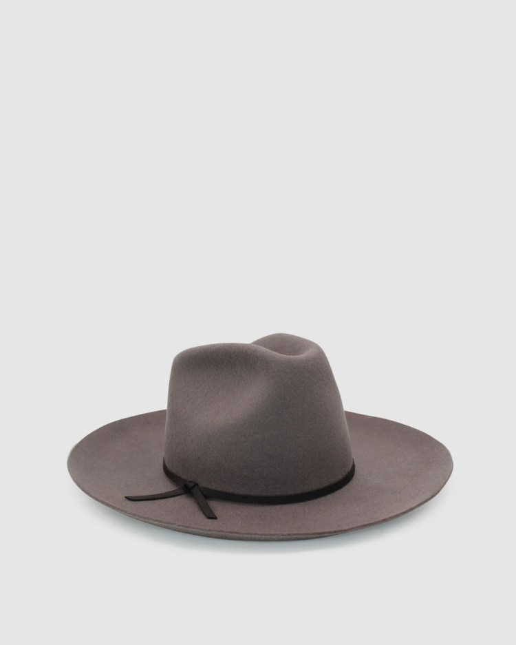 Ace Of Something Rawhide Fedora Hats Grey