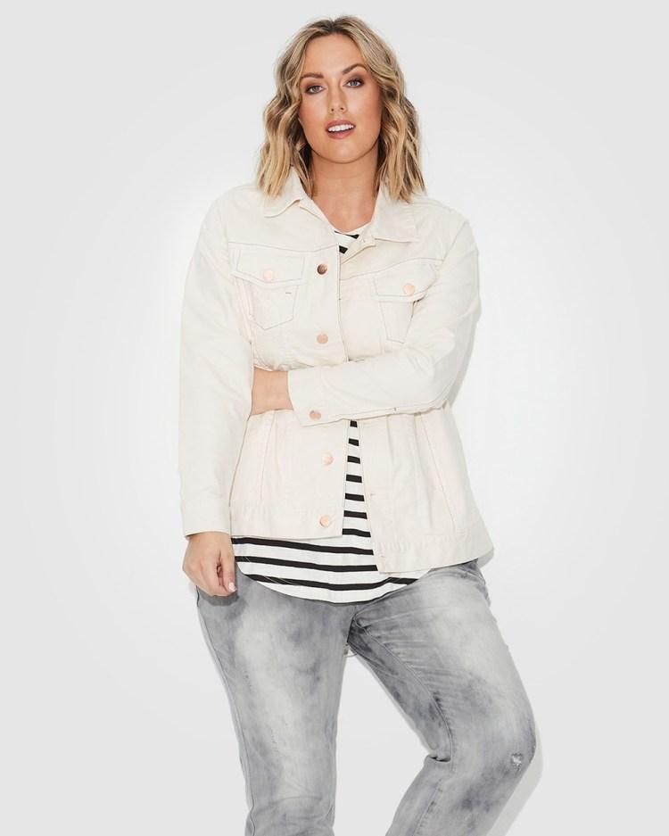 17 Sundays Trucker Jacket Denim jacket White
